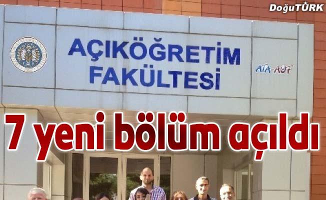 Atatürk Üniversitesi açıköğretimde 7 yeni bölüm