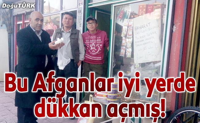 Bu Afganlar iyi yerde dükkan açmış!