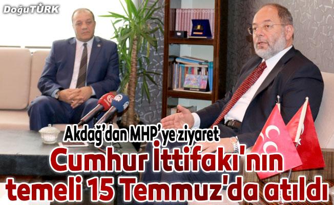 """""""Cumhur İttifakı'nın temeli 15 Temmuz'da atıldı"""""""