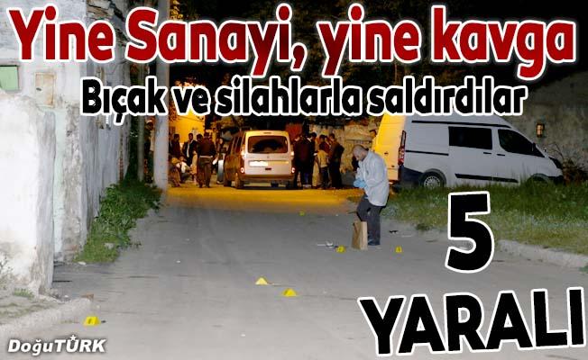 Erzurum'da bıçaklı ve silahlı kavga: 5 yaralı
