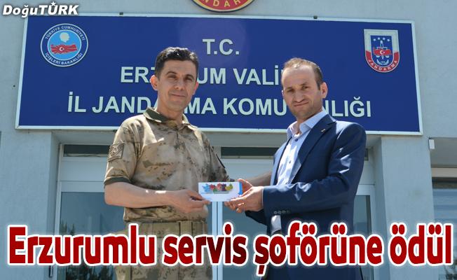Erzurumlu servis şoförüne ödül