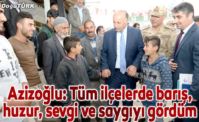 Vali Azizoğlu ilçe ziyaretlerini sürdürüyor