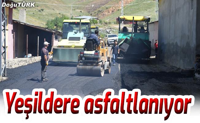 Yeşildere köyü de asfaltlanıyor