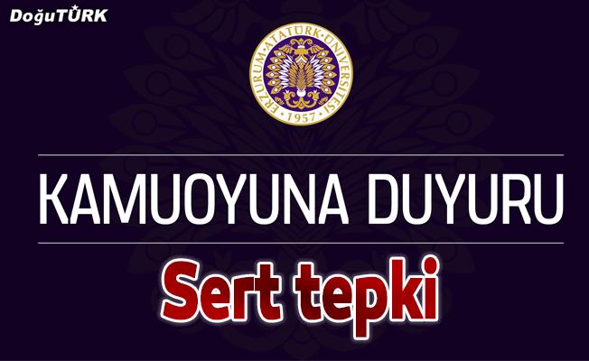 Atatürk Üniversitesi'nden ABD'ye tepki
