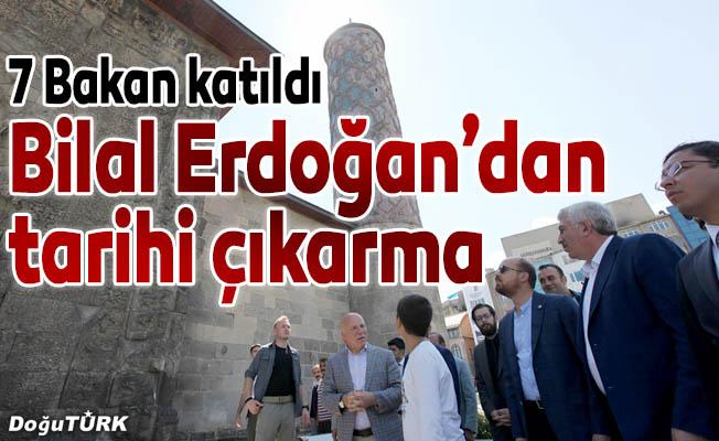 Bilal Erdoğan tarihi eserleri gezdi