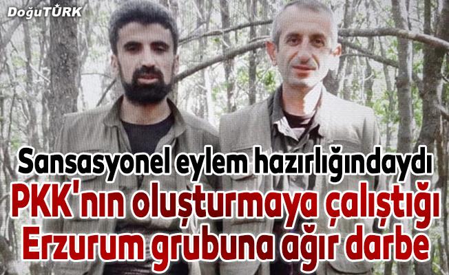 Terör örgütü PKK'nın oluşturmaya çalıştığı Erzurum grubuna ağır darbe