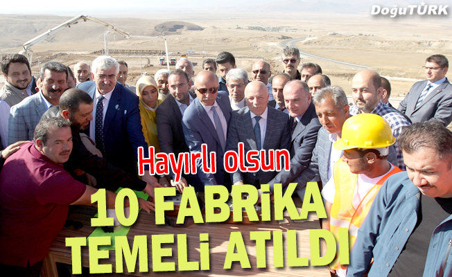 Erzurum'da 10 fabrikanın temeli atıldı