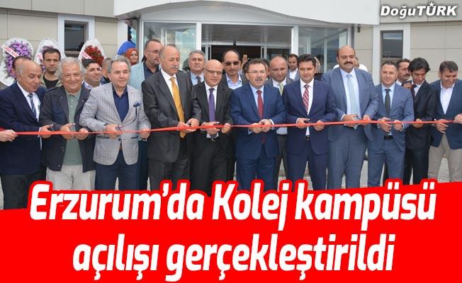 Erzurum'da kolej kampüsü açılışı
