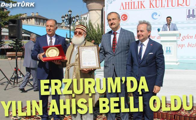 Erzurum'da yılın ahisi Zihni Karslıoğlu oldu