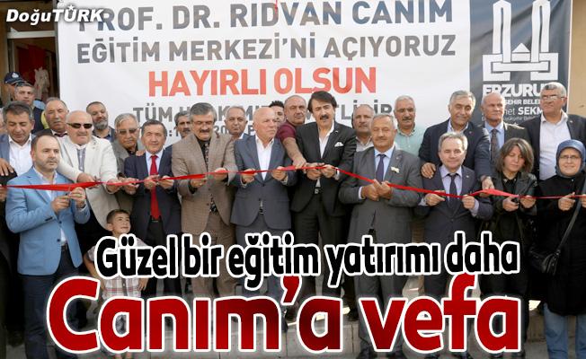 """""""Prof. Dr. Rıdvan Canım Eğitim Merkezi"""" hizmete açıldı"""