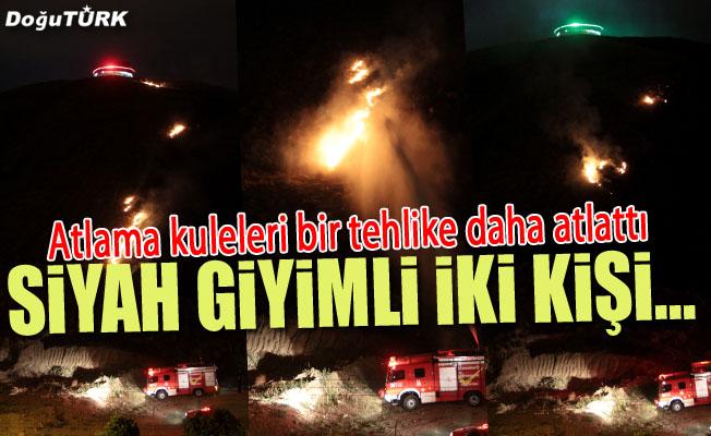 Atlama Kuleleri'nin bulunduğu alanda yangın
