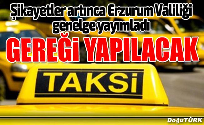 """Vali Azizoğlu'ndan """"taksi"""" genelgesi"""
