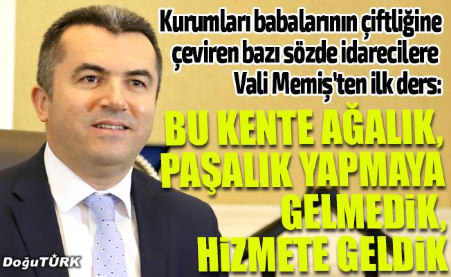 Erzurum Valisi Memiş, görevine başladı