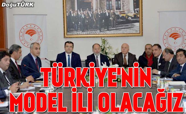 """""""Tarım ve hayvancılıkta Türkiye'nin model ili olacağız"""""""