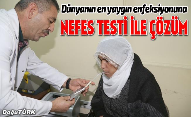 Dünyanın en yaygın enfeksiyonuna nefes testi ile çözüm