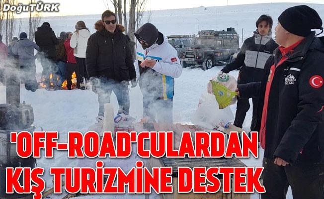 """""""Off-road""""culardan kış turizmine destek"""