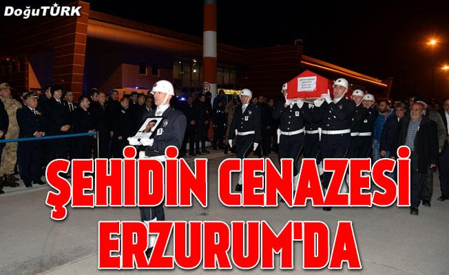 Şehit polis memurunun cenazesi Erzurum'a getirildi