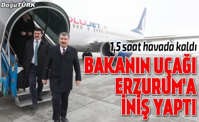 Bakan Koca'nın uçağı Erzurum'a indi