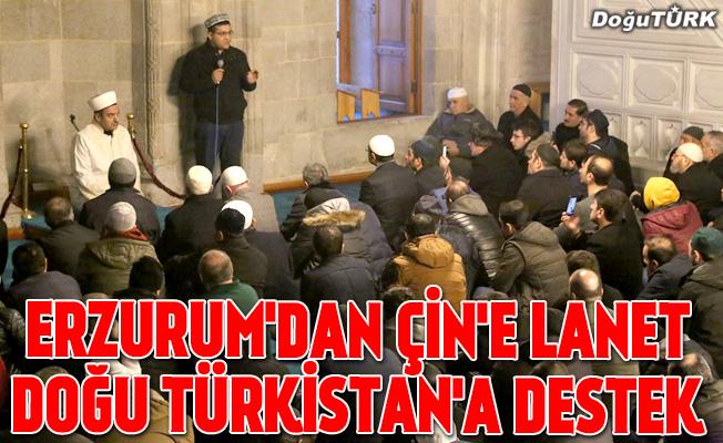 Erzurum'dan Çin'e Doğu Türkistan protestosu