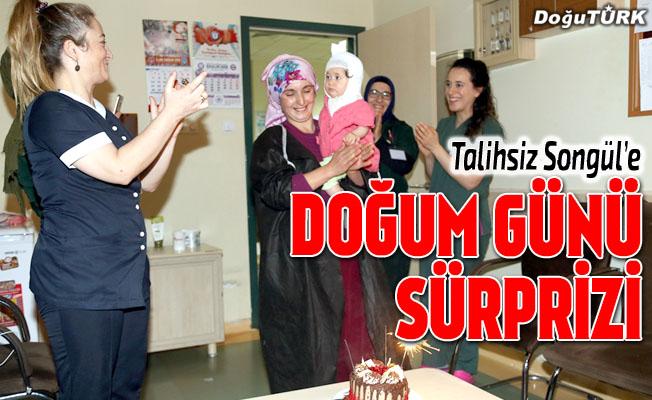 Minik Songül'e ilk yaşında hastanede doğum günü sürprizi