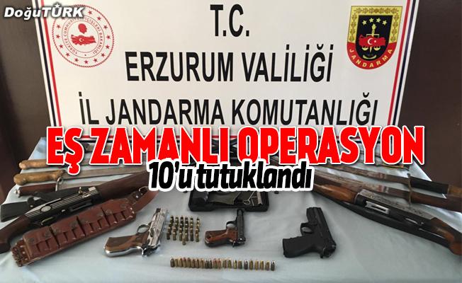 Erzurum merkezli silah ve göçmen kaçakçılığı operasyonu