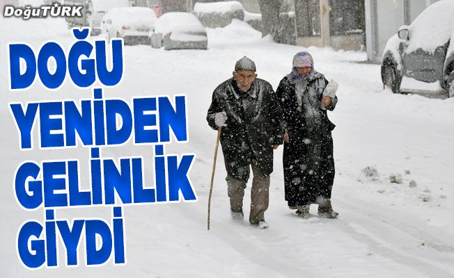Mart karı Doğu Anadolu'ya yeniden gelinlik giydirdi