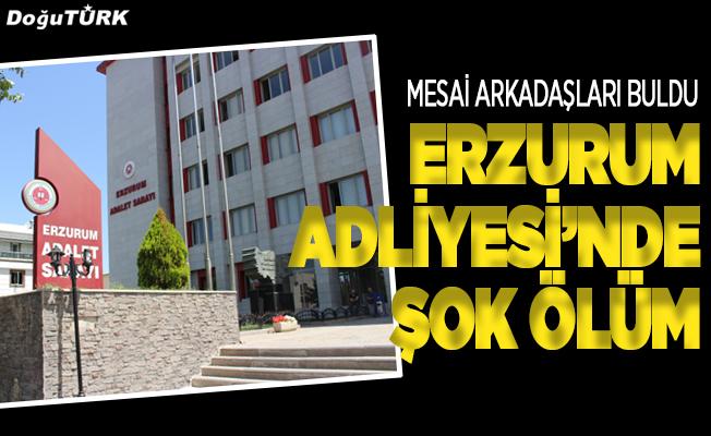 Erzurum Adliyesi'nde şok ölüm