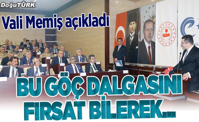 """Erzurum'da """"Düzensiz Göçle Mücadele"""" toplantısı"""