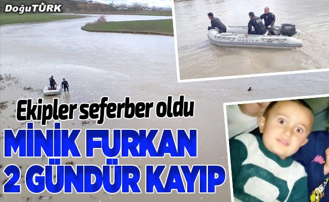 Erzurum'da ekipler kayıp Furkan için seferber oldu