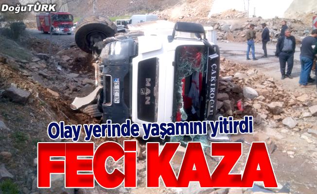 Erzurum'da feci kaza: 1 ölü