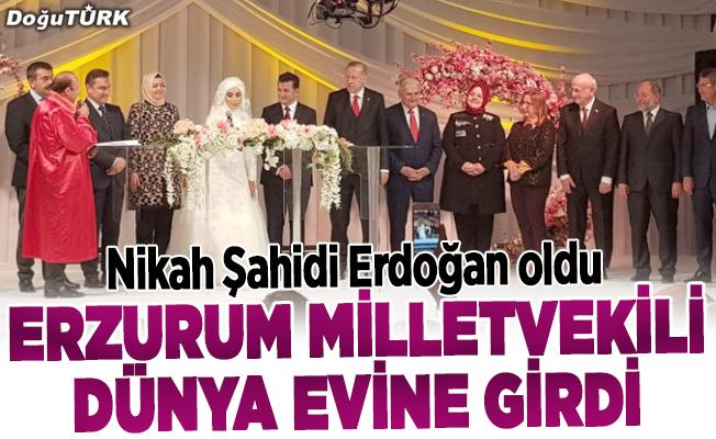 Erzurum Milletvekili dünya evine girdi