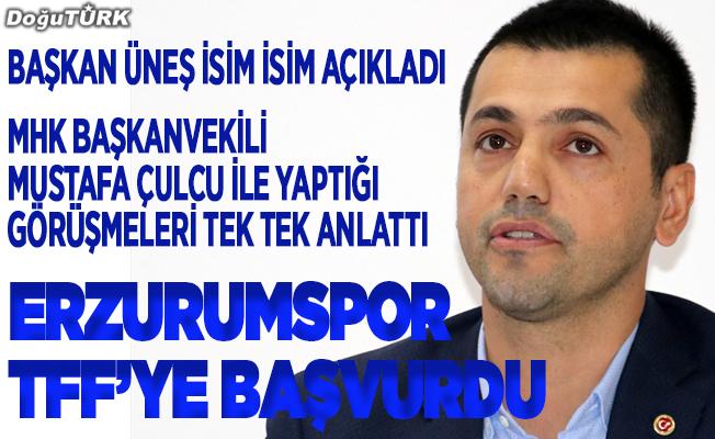 Erzurumspor, TFF'ye başvurdu
