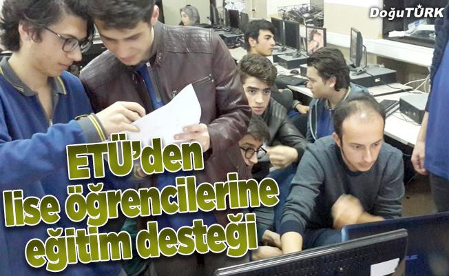 """ETÜ'den """"Teknofest 2019"""" için lise öğrencilerine eğitim desteği"""