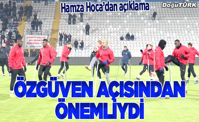 Hamzaoğlu: İki galibiyet, takımın öz güveni açısından önemliydi