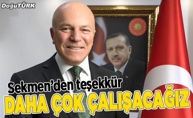 Sekmen: Teşekkürler Erzurum, teşekkürler aziz dadaşlar
