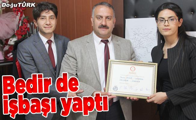 Şenkaya Belediye Başkanı Yavuz Bedir göreve başladı