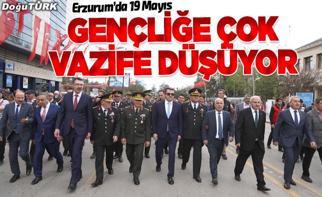 Erzurum'da 19 Mayıs Atatürk'ü Anma, Gençlik ve Spor Bayramı coşkusu
