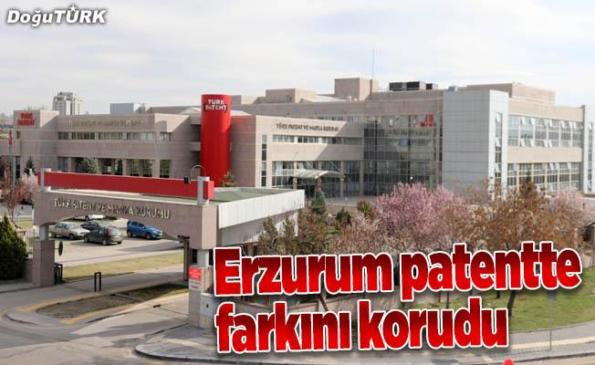 Erzurum patentte farkını korudu