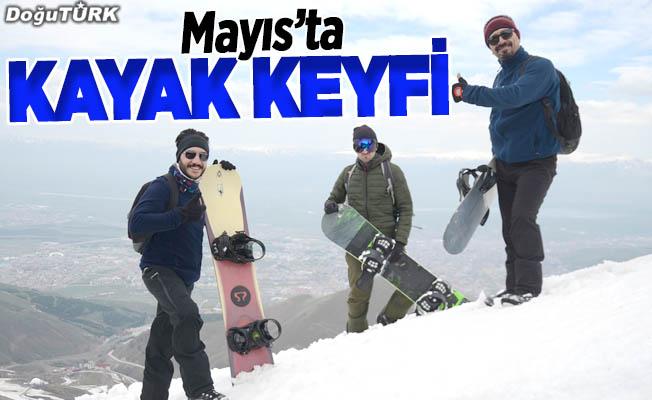 Palandöken'de mayısta kayak keyfi