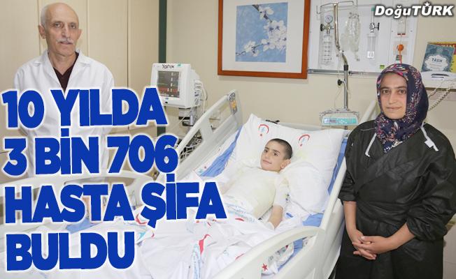 Yanık merkezinde 10 yılda 3 bin 706 hasta şifa buldu