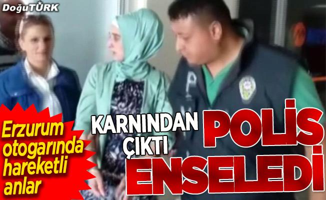 Erzurum polisi otogarda yakaladı