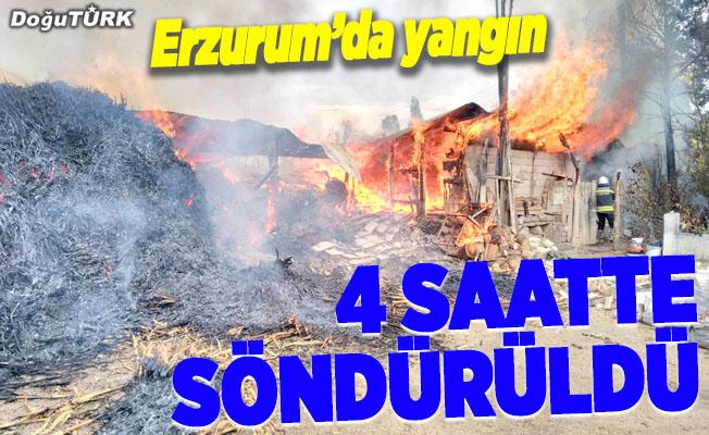 Erzurum'da yangın