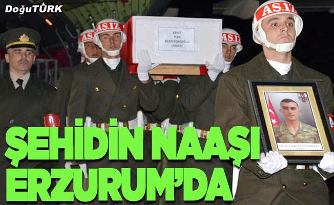 Şehit Eşkioğlu'nun cenazesi Erzurum'da
