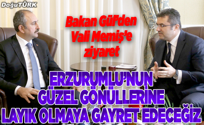 Adalet Bakanı Gül'den, Vali Memiş'e ziyaret