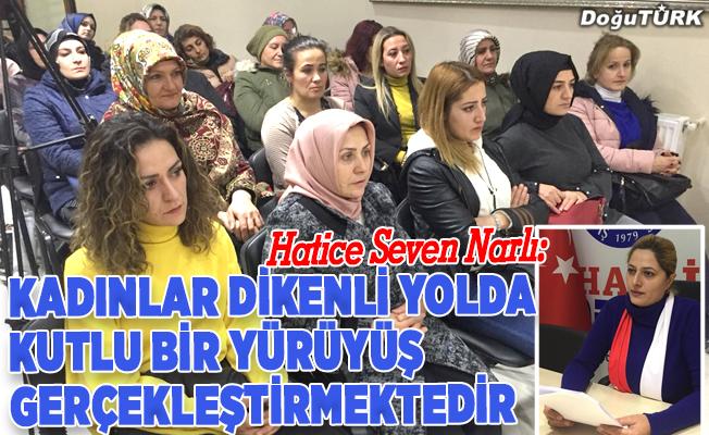Erzurum'da kadına yönelik şiddete tepki