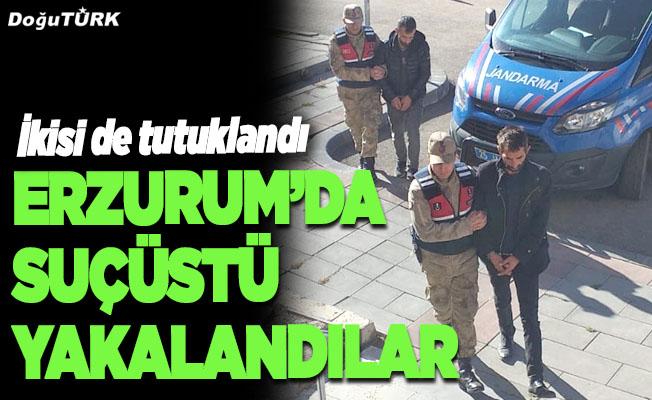 Erzurum'da, suçüstü yakalandılar