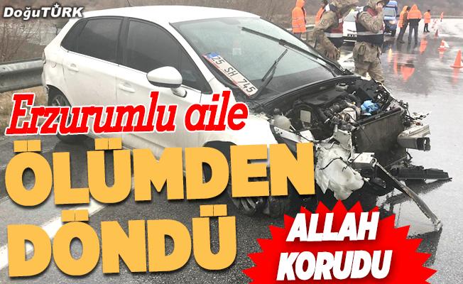 Erzurumlu aile ölümden döndü: 5 yaralı