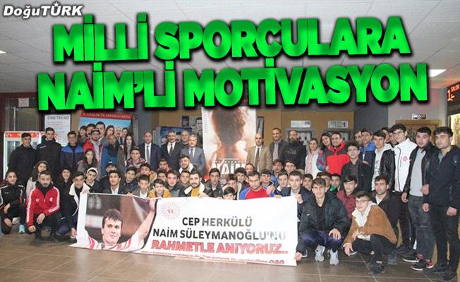 """Milli sporculara """"Cep Herkülü: Naim Süleymanoğlu"""" filmiyle motivasyon"""