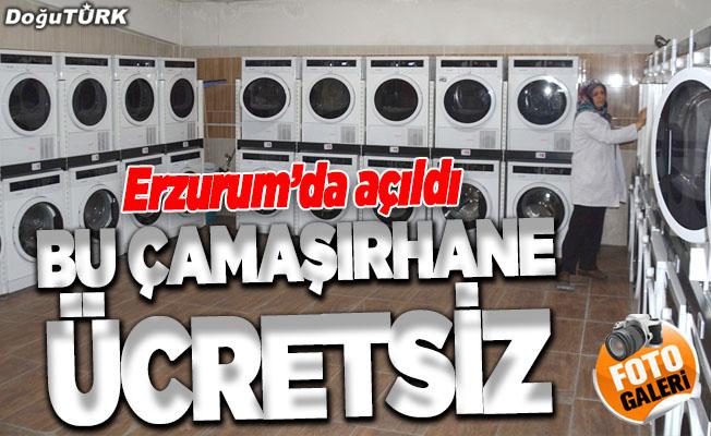Erzurum'da ücretsiz çamaşırhane açıldı