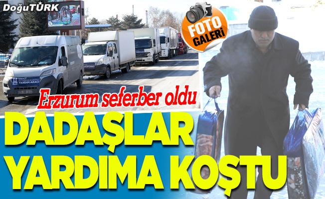 Dadaşlardan Elazığ'a yardım konvoyu